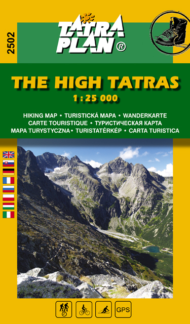 The High Tatras map 1:25 000