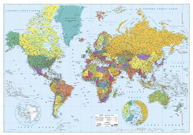 Svet Politicka Mapa 1 43 5 Mil Zahranicie Dobramapa Sk